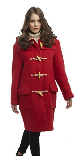 (Original Montgomery Womens Wooden Toggles Duffle Coat (08, Red))