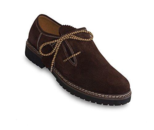 Schöne Haferl Schuhe, Trachten Schuhe, echtes Wildleder, ideale Passform, Original Waller Trachtenmoden (42, dunkelbraun)