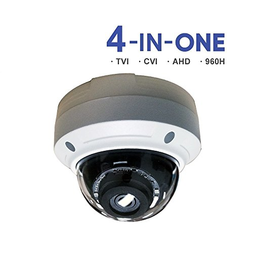 HDVD 1080p dome camera 2mp TVI/AHD/CVI/960H 4 in 1, 2.8mm wide angel lens, night vision up to 70ft, Surveillance Cameras