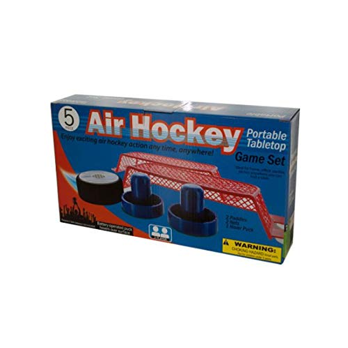 The Wholesale Shop 13.5'' Blue and Red Portable Tabletop Air Hockey Game Set by The Wholesale Shop