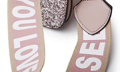 trois Épaule À Carréà Xrkz Couleurs De Une Contrastante Option Large Pink brown Sac Bandoulière Couleur En Paillettes Petit SxnI7