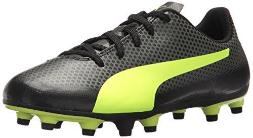 - PUMA Unisex-Kids Spirit FG Soccer-Shoes, Puma Black-Fizzy Yellow-Castor Gray, 5.5 M US Big Kid