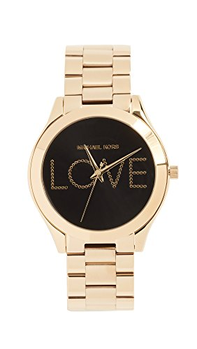 Michael Kors Women's 'Slim Runway' Quartz Stainless Steel Casual Watch, Color:Gold-Toned (Model: MK3803) by Michael Kors