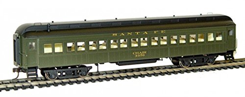Rivarossi HO Scale Pullman 60' Coach #3370 Santa Fe Train