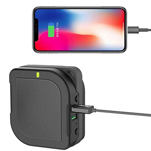 E-KIA Enchufe Universal Adaptador Viaje,Tesoro De Carga 6000mah + Enchufe De ConversióN De Audio Bluetooth, HiFi...