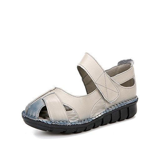 XZGC - Sandalias de vestir de poliuretano para mujer gris