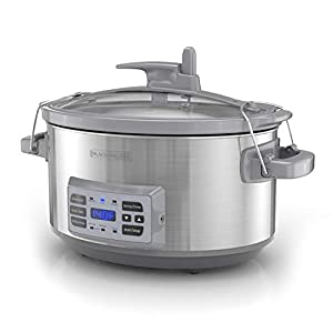 BLACK+DECKER SCD7007SSD 7-Quart Digital Slow Cooker with Temperature Probe + Precision Sous-Vide, Capacity, Stainless…