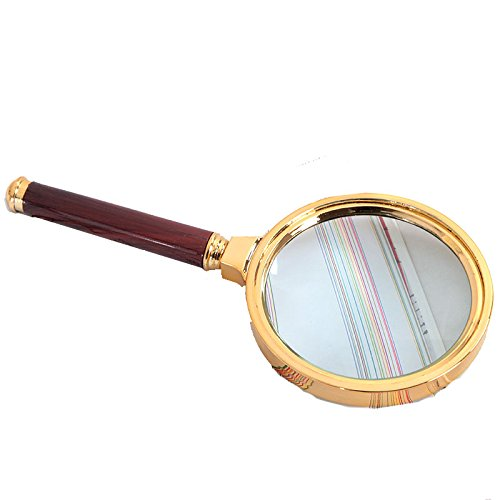 Yixin Magnifier Magnifying Glass Lens 10x Classic Handheld for Reading, Inspection and Hobbies,Great Gift for Parents Father Mother Seniors Elder