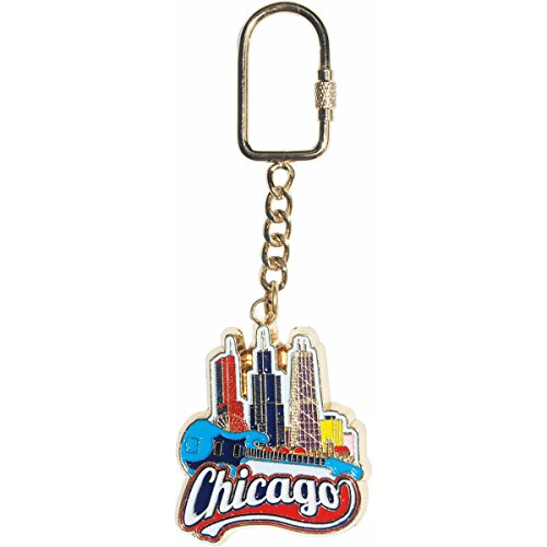 Chicago Souvenir Keychain Featuring The Famous Chicago Skyline -
