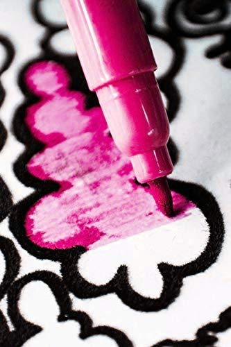 Le/ón Rugiendo Terciopelo colorvelvet de 47x35 cm para colorear con caja de rotuladores