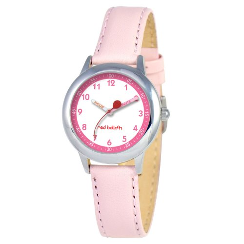 Red Balloon Kids' W000196 Stainless Steel Watch with Leather Band (Teacher Time Leather Watch)