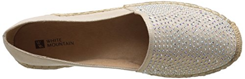 Frauen Flach Metallic Harmonize Mountain Espadrille Rund White Gold Pumps aH5zgBBWq
