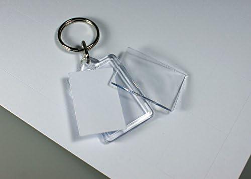 """UltraFab-Design 3/"""" 1 x Designer transparent porte-clés 35X55MM /""""toutes les couleurs"""