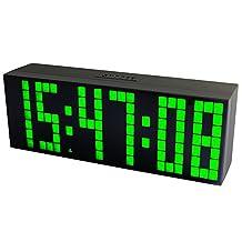 Chihai Digital Alarm Clock with Large 3'' Display, Remote Control (Green)