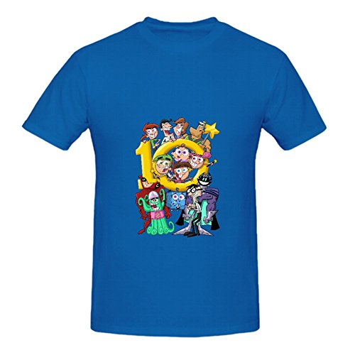 KARLEE Custom Crew Neck Fairly Oddparents Family Male T-shirts ()