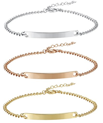 FIBO STEEL Stainless Womens Anklets