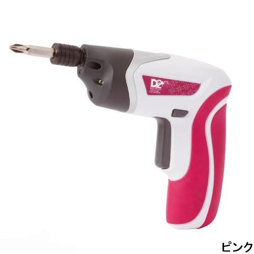 D2オリジナル 3.6V充電式ミニドリル&ドライバー DDR-180KD ピンク