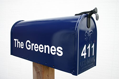 Navy Blue Painted Mailbox by TheBusBox - Choose your ()
