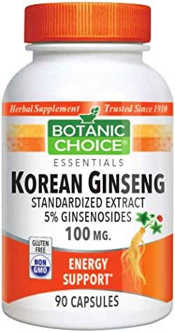 Botanic Choice Korean Asian Ginseng 90 capsules