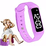 GOGO Potty Training Watch - Water Resistant Timer and Child Reminder- Toilet Trainer Alarm Watches for Boys, Girls, Kids and Toddlers with a Soft Pink Purple Strap and Adjustable Alerts: more info