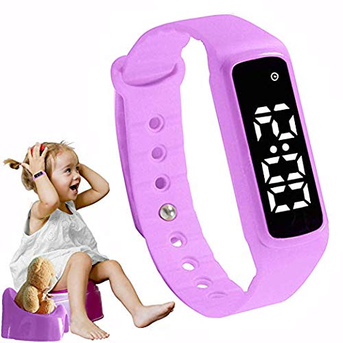 GOGO Potty Training Watch - Baby Reminder Water Resistant Timer - Potty Trainer for Toilet Training Girls & Boys - Kids & Toddler Potty Training Toilet Watches Girls (Pink/Purple) -