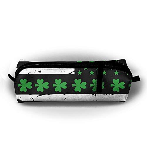 Flag Gel Pen - Mrshelp St. Patrick's Day Irish American Flag 3D Print Pencil Bag Fashion Pen Case for Pens,Pencils,Highlighters,Gel Pen,Markers,Eraser and Other School Supplies Unisex