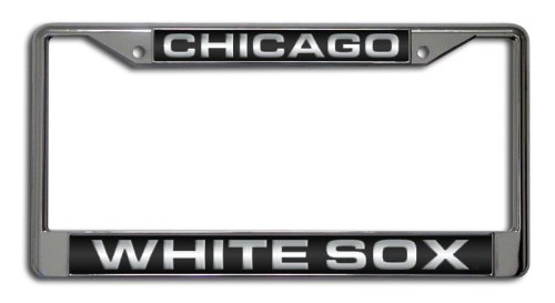 MLB Chicago White Sox Laser-Cut Chrome License Plate Frame
