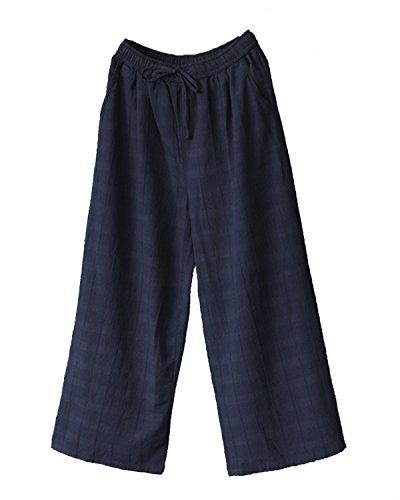 de de Pantalones de lino algod lino Pantalones de xpYIq6p