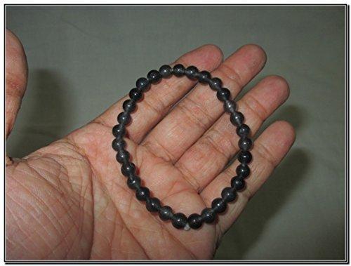- Iolite Stretch Bracelet 6 mm A++ Gemstone Amulet Charms Healing Energy Metaphysical Confidence Progress Strength Prosperity Peace Divine