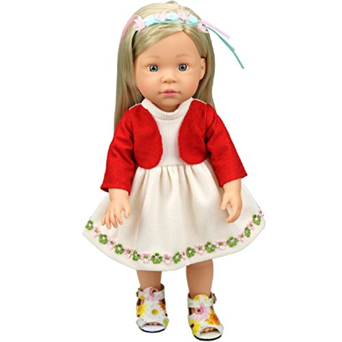 Shero 10 - 14 Inches Baby Doll's Dress One-Piece (Red)