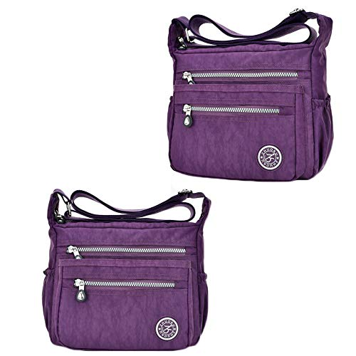Borsa LIUYL Borsa Impermeabile A Tracolla Casual Purple02 Da Multifunzione Nylon Donna A Tracolla Multitasche Da In Viaggio qY1Yvwxn