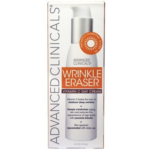 ADVANCED CLINICALS WRINKLE ERASER WITH VITAMIN C DAY CREAM.