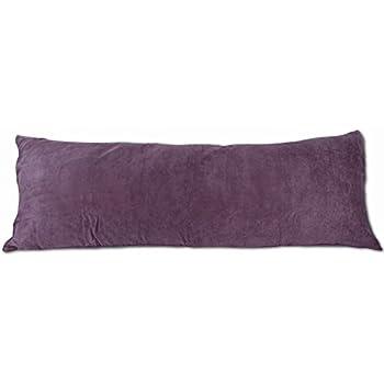 Amazon Com Beauty Bedding Purple Microsuede Body Pillow