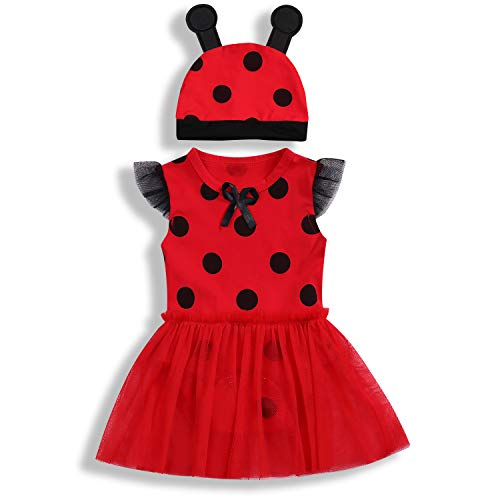 Toddler Baby Girls Summer Clothes Set Rde Ladybug