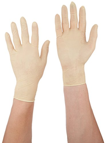 Microflex MF-300-M Diamond Grip Powder-Free Examination Glove, 9.6'' Length, 5.1'' Cuff Thickness, 6.3'' Palm Thickness, 7.9'' Finger Thickness, Medium, Natural (Pack of 100) by Microflex (Image #2)
