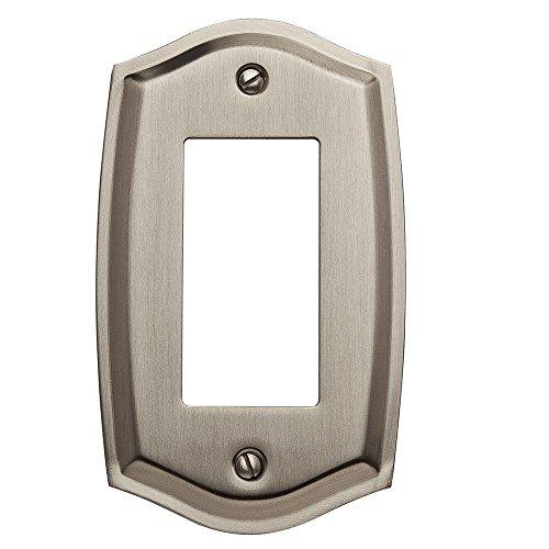 Baldwin 4785.150.CD Colonial Design Single GFCI Switch Plate, Satin Nickel (Colonial Design Single)