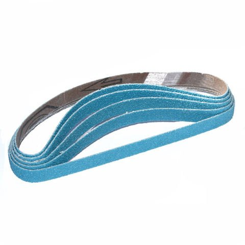 13mm x 457mm Zirconium Sanding Belts Packs of 5 80 Grit