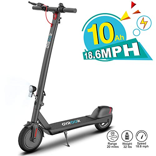 """Gyroor Electric Scooter for Adults, 380W 20 Miles Long-Range Battery, Up to 18.6 MPH, 8.5"""" Tires, Adult Electric Scooter for Commuter with Double Braking System"""