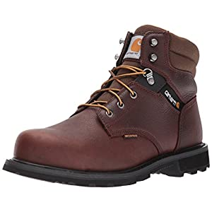 "Carhartt Men's 6"" CMW6264 Leather Waterproof Breathable Steel Toe Work Boot, Brown Pebble Oil Tanned, 11 M US"