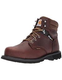 Carhartt Men's 6-Inch Brown Waterproof Work Boot - Steel Toe