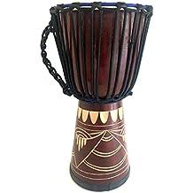 "Djembe Drum Bongo Congo African Wood Drum 16"", JIVE FEDERAL (TM) BRAND, Professional Premium Quality / Includes Drum Key Chain"