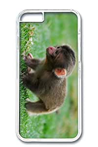 iPhone 6 Case, Custom Design Covers for iPhone 6 PC Transparent Case - Baby Monkey