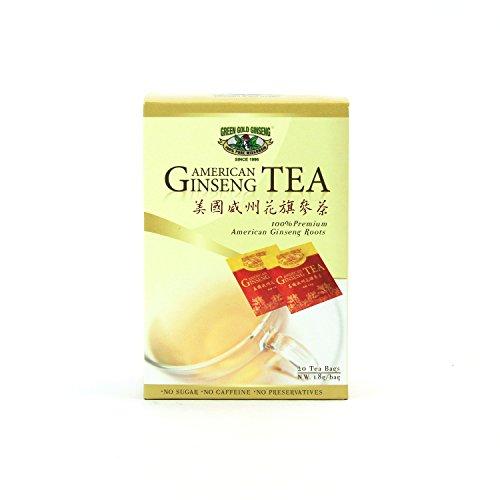 SKU OT 173, Green Gold Ginseng Tea American Ginseng Tea Bags (20's)