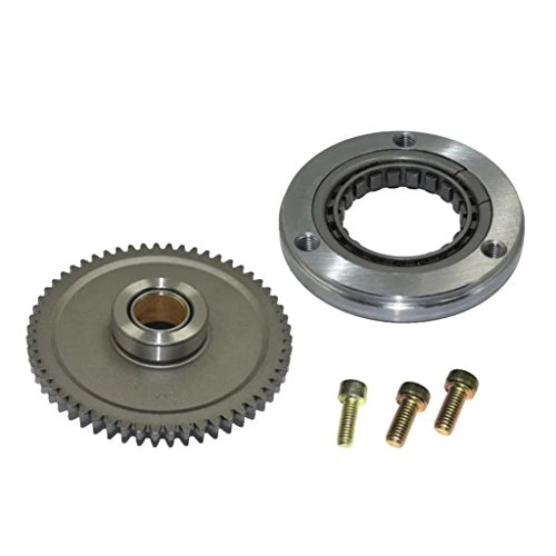 Homyl Motorcycle Starter Clutch Sprag Bearing Gears Assembly fit for CG200 CG250 Silver -