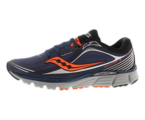 Saucony Men's Kinvara 5 Runshield Running Shoe,Navy/Viziorange,11 M US