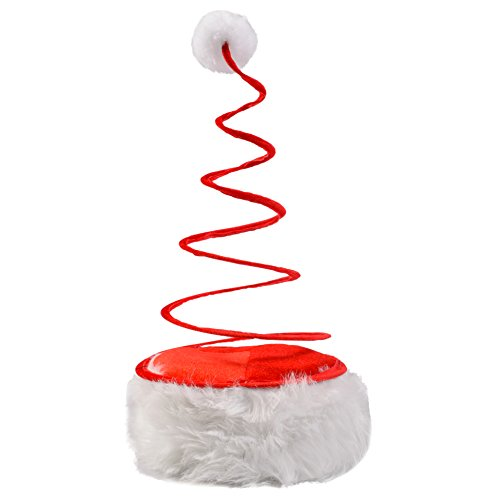 [Christmas Theme Santa Hats for Adults - Christmas Headwear by Funny Party Hats] (Crazy Christmas Hats)