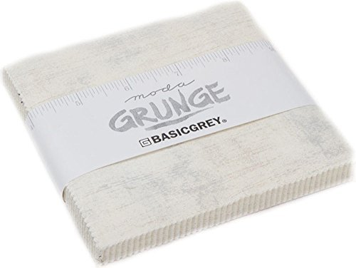 (BasicGrey Grunge Basics Crème Charm Pack 42 5-inch Squares Moda Fabrics 30150PP 270)