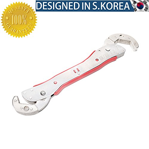 JOY COLORFUL Pipe Wrench Set, Multi-Function Universal Auto-Ratcheting Spanner Hand Tools, Double Head Adjustable Multi Socket Wrench for Any Shape Bolt Nut Pipe Work (9㎜-45㎜)