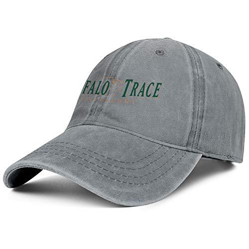 - Unisex Adjustable Buffalo-Trace-Whiskey-Logo-Symbol-Baseball Cap Sunshade Flat Hat