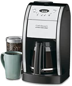 Amazon.com: Cuisinart Grind & Brew 12-Cup Automatic Coffeemaker, Features Built In Grinder, 12 ...